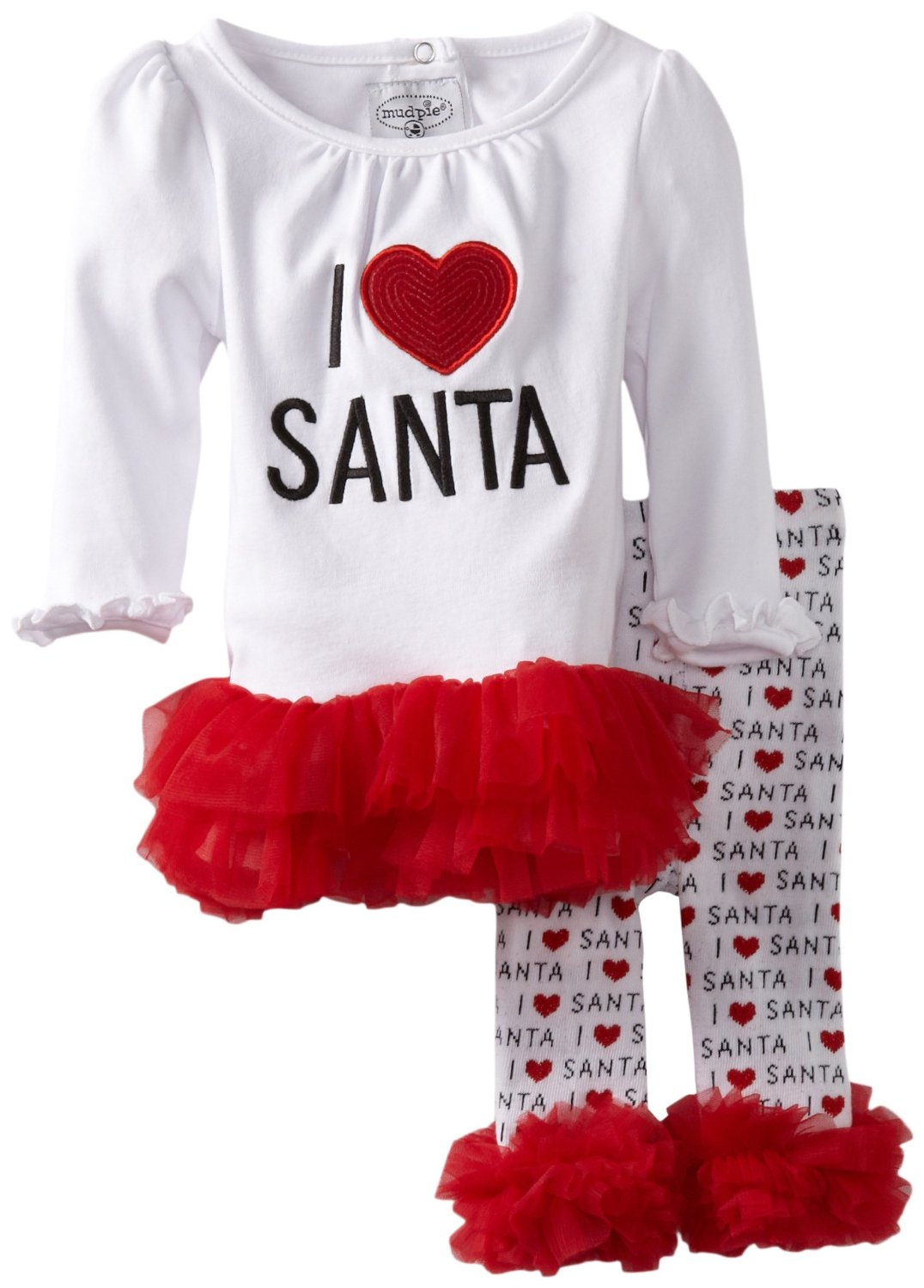 Baby Christmas Outfits on red rocking chair