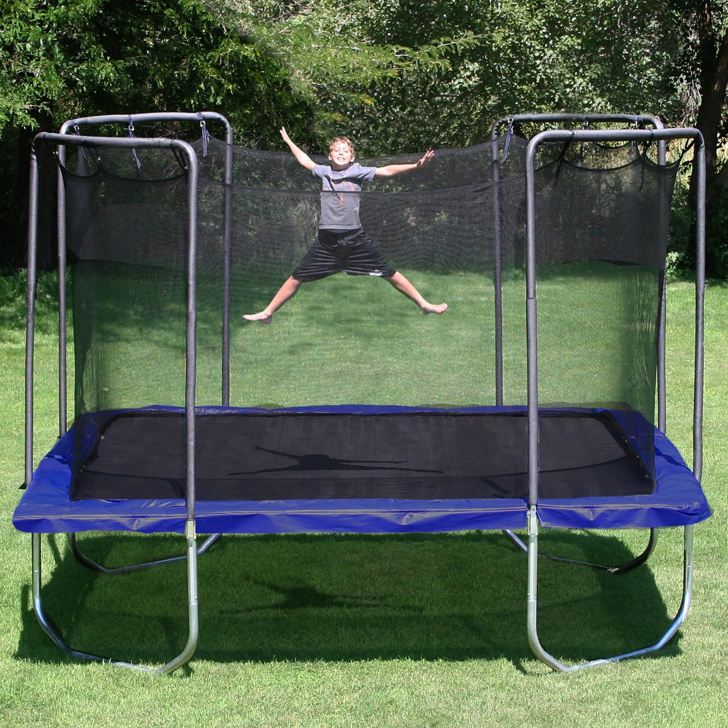 enclosed trampoline sizes and weight