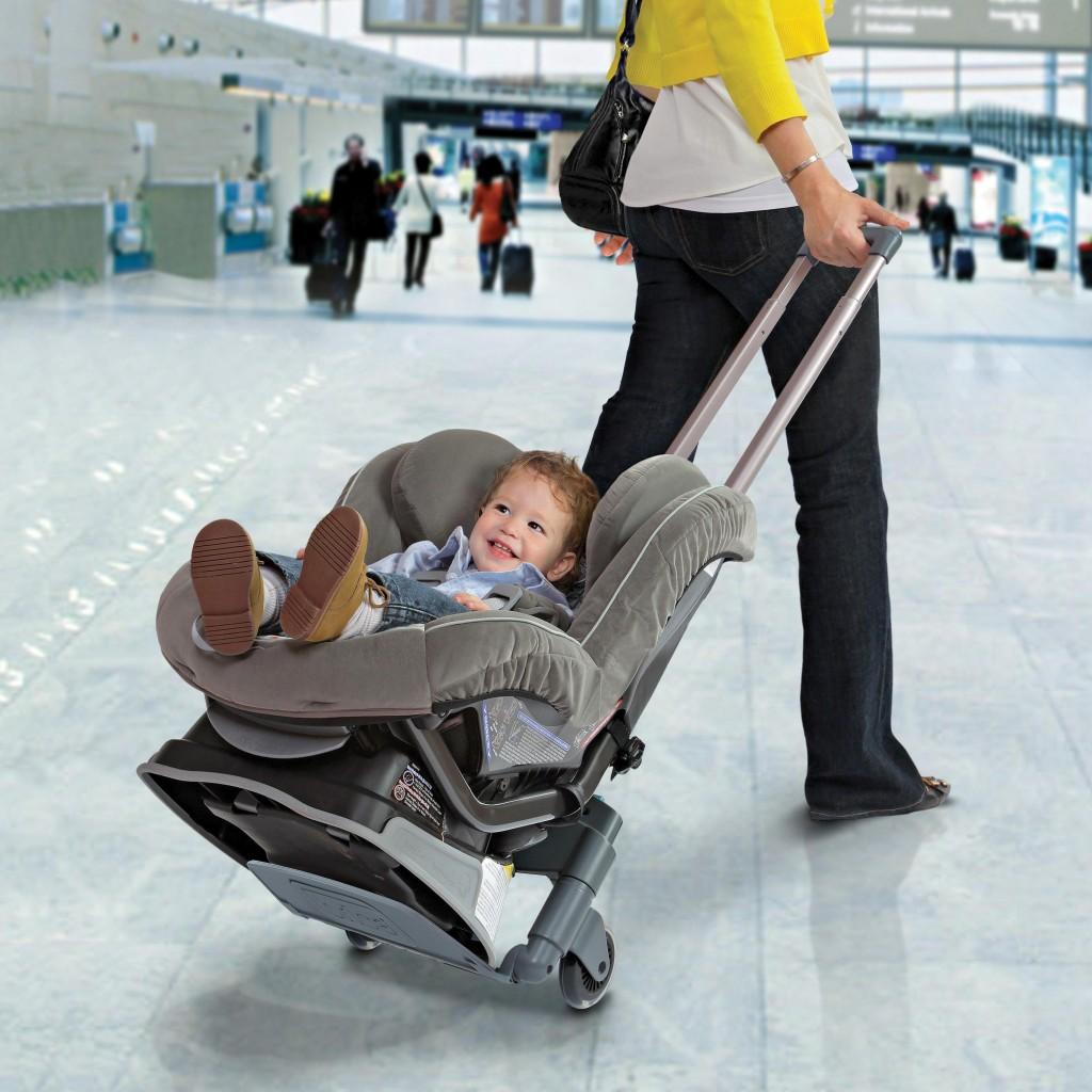 car seat airport roller