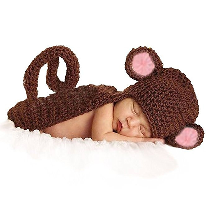 baby monkey costume for property photos